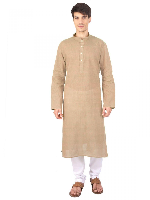 Rajubhai Hargovindas Brown Cotton Long Kurta