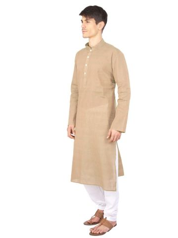 Rajubhai Hargovindas Brown Cotton Long Kurta
