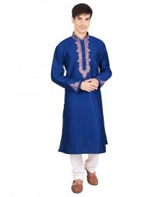 Blue Silk Kurta Churidar