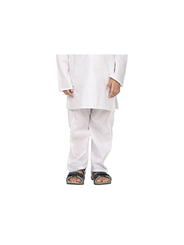 Kids White Cotton Pyjama