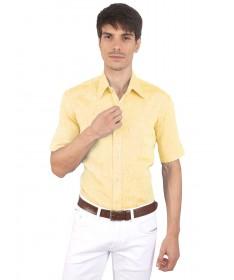 JAPs Yellow Pure Linen Shirt Short Sleeve