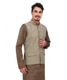 Green Jute Finish khadi Jacket