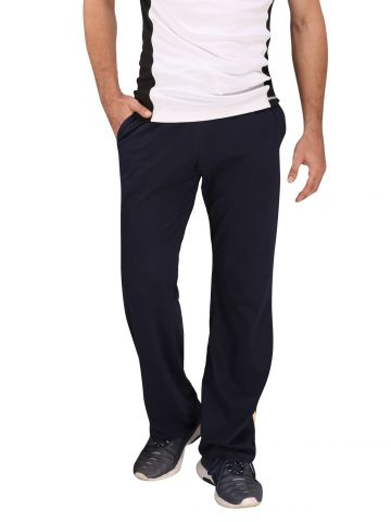 Navy Blue Cotton Track Pant (Cream Stripes)
