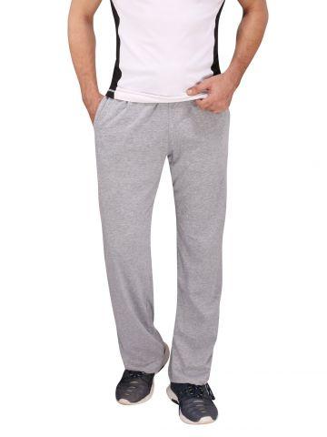 Grey Cotton Trackpants White Stripes