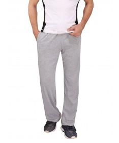 Grey Cotton Track Pant (White Stripes)