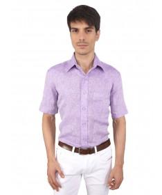 JAPs Lavender Pure Linen Shirt Short Sleeve