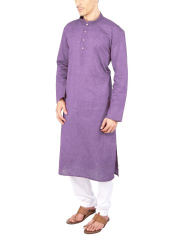 Light Purple Cotton Long Kurta