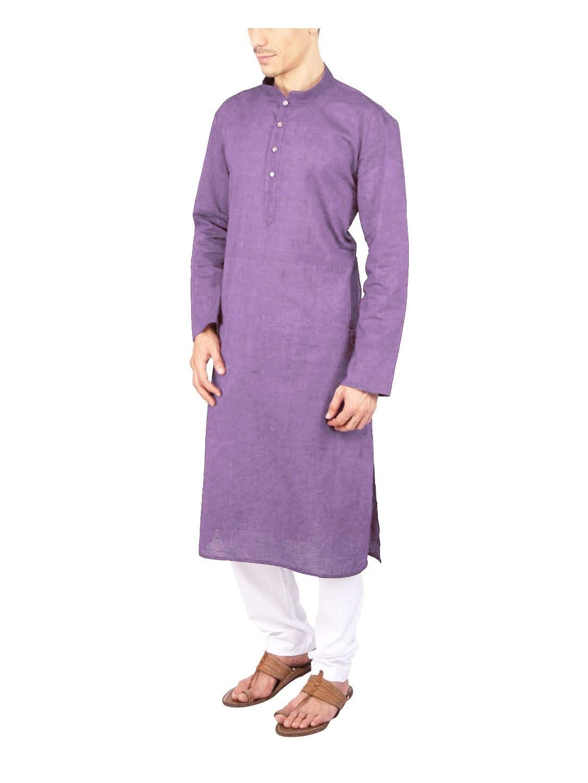 Light Purple Cotton Long Kurta