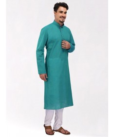 Mint Green Handloom Cotton Kurta