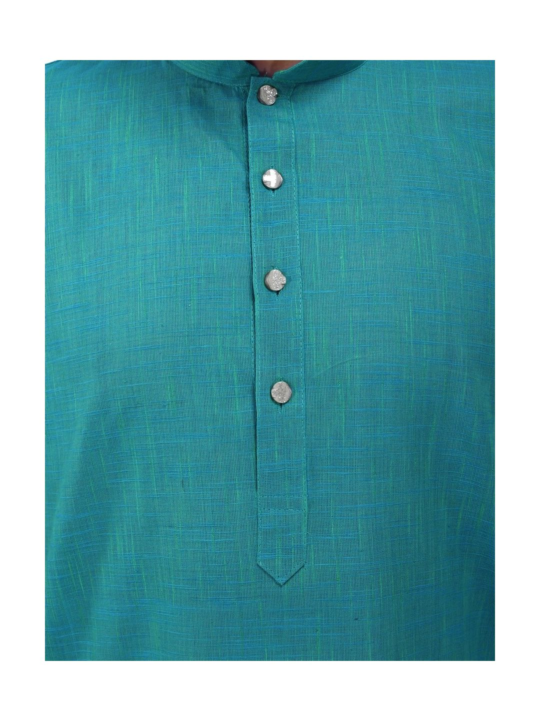 Dark Green Slub Cotton Kurta