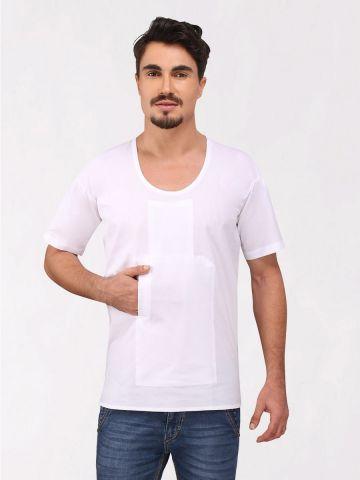 White Cotton Travel Vest (Half Sleeve)