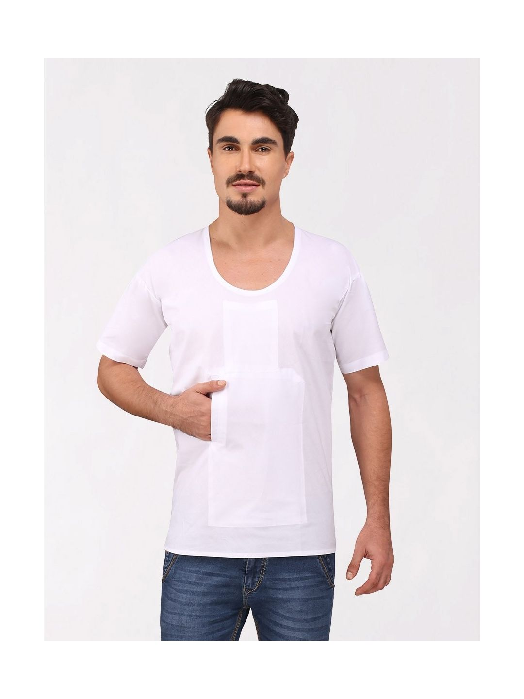 White Cotton Travel Vest (Half Sleeve)
