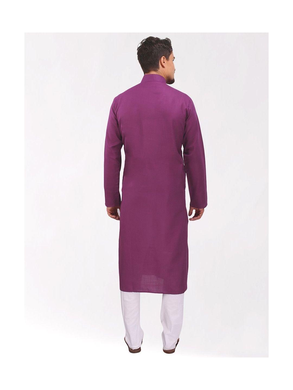Light Purple Tussar Cotton Long Kurta