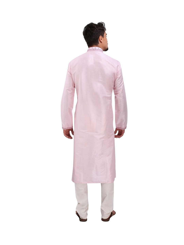 Pink Silk Kurta Churidar