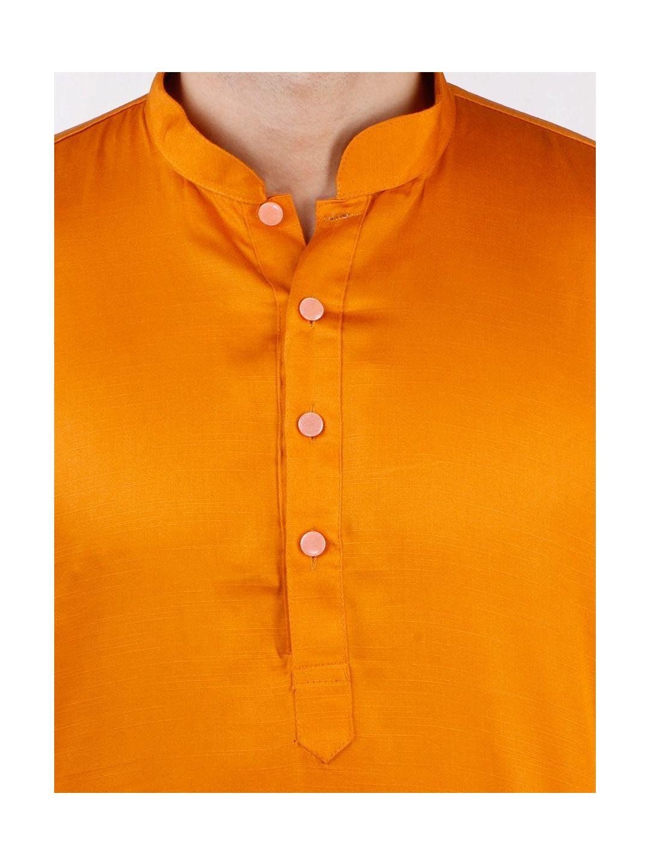 Rust Orange Satin Cotton Kurta