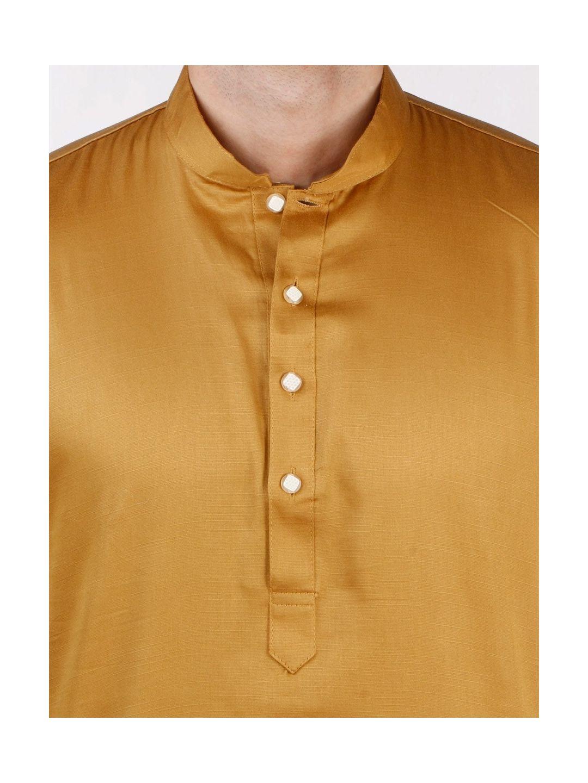 Gold Satin Cotton Kurta
