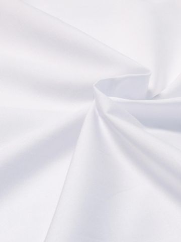 White 100% Cotton Poplin Fabric
