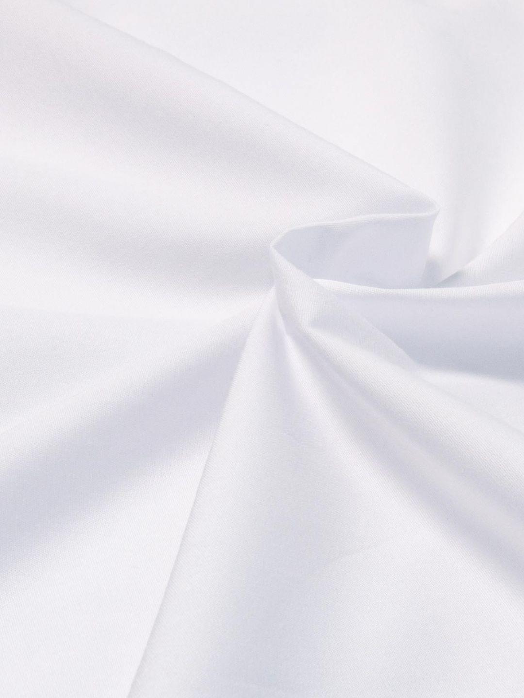 White 100% Cotton Poplin Fabric
