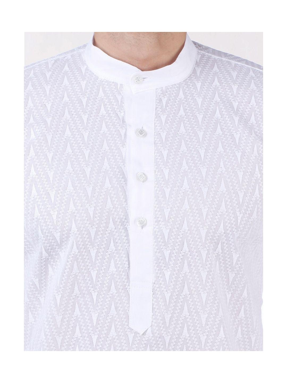 White Chikan Embroidered Kurta