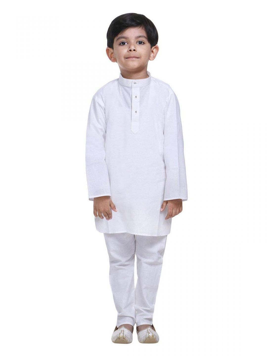 Boys White Fine Cotton Kurta