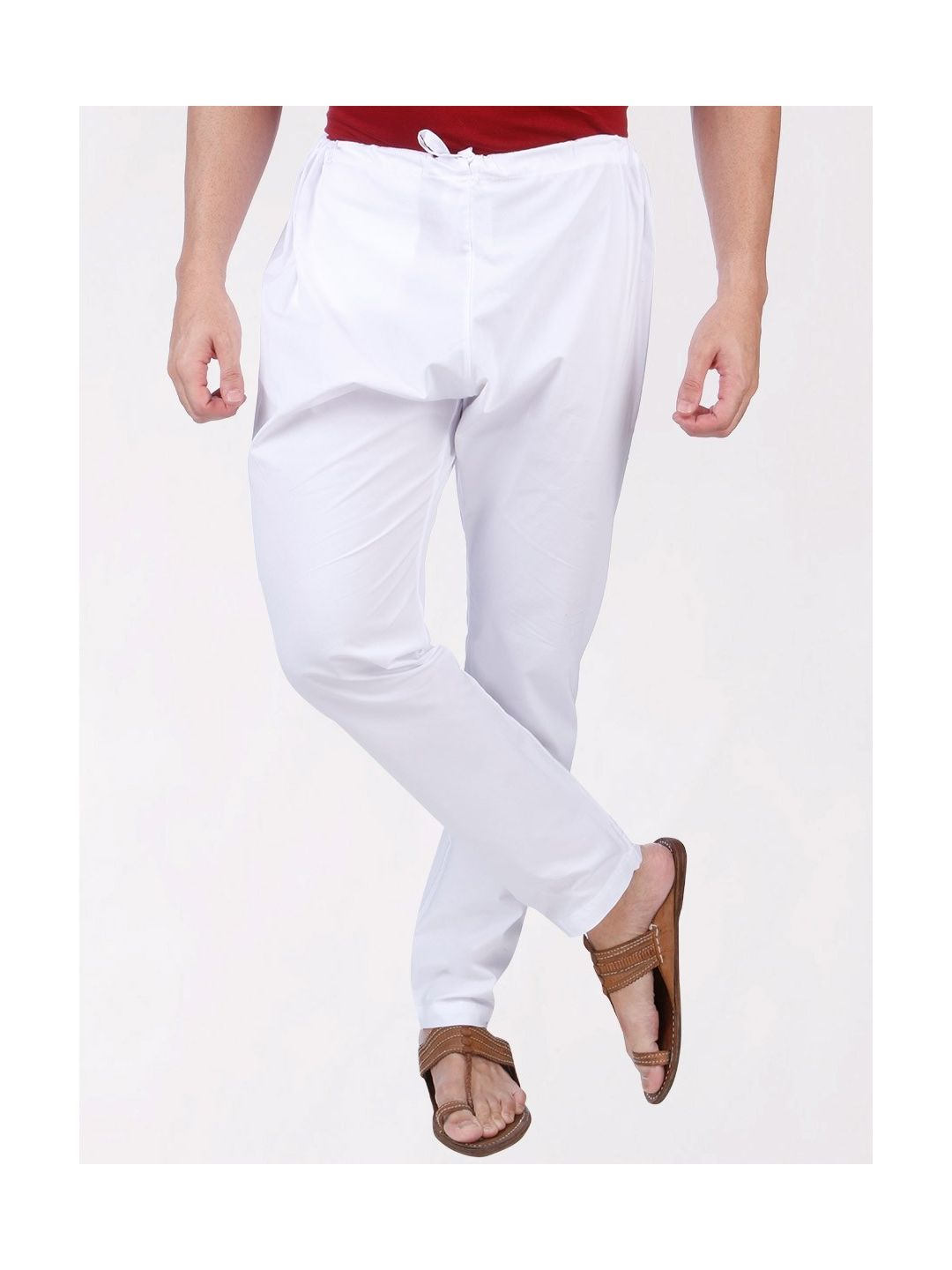 White Cotton Men's Chudidar