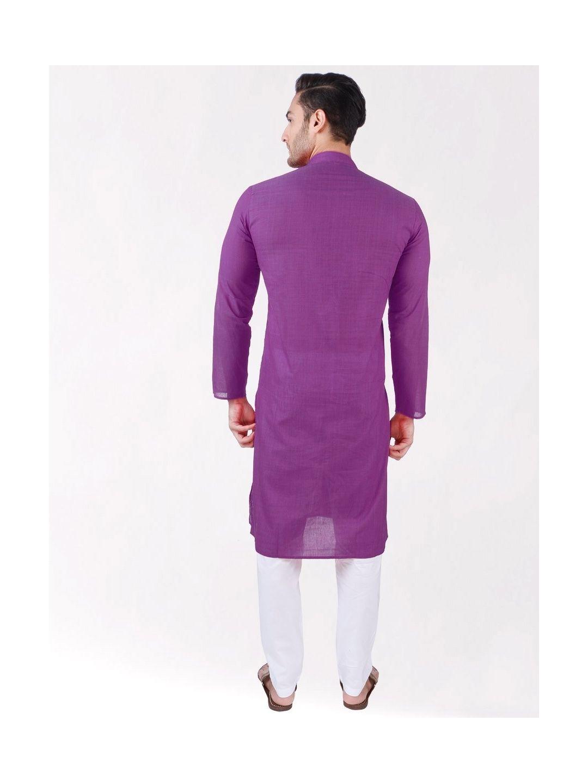Purple Cotton Long Kurta