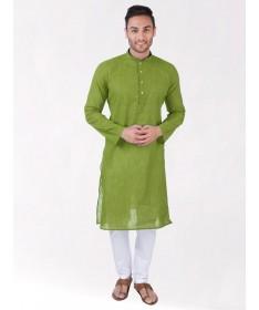 Green Handloom Cotton Kurta