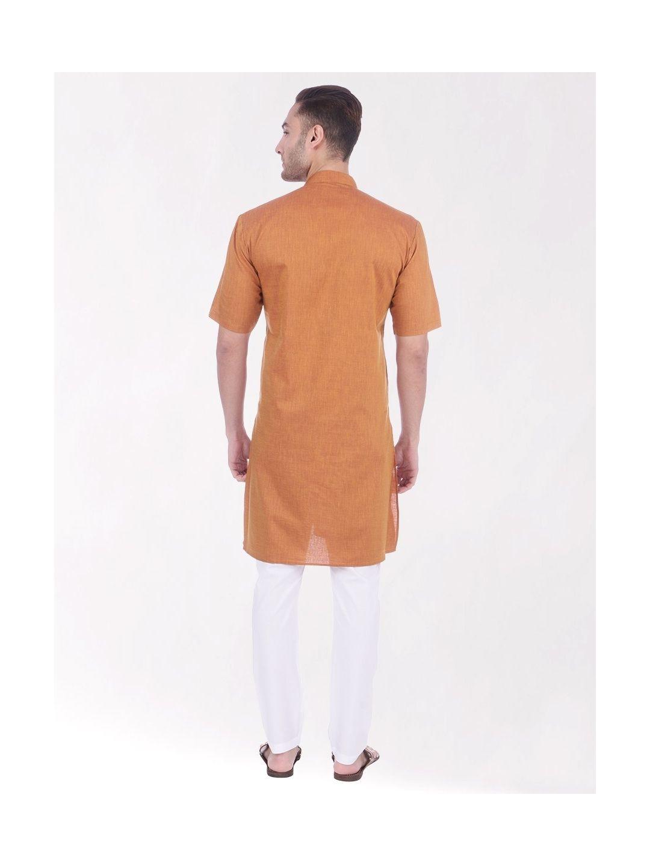 Gold Tussar Cotton Kurta (Half Sleeve)