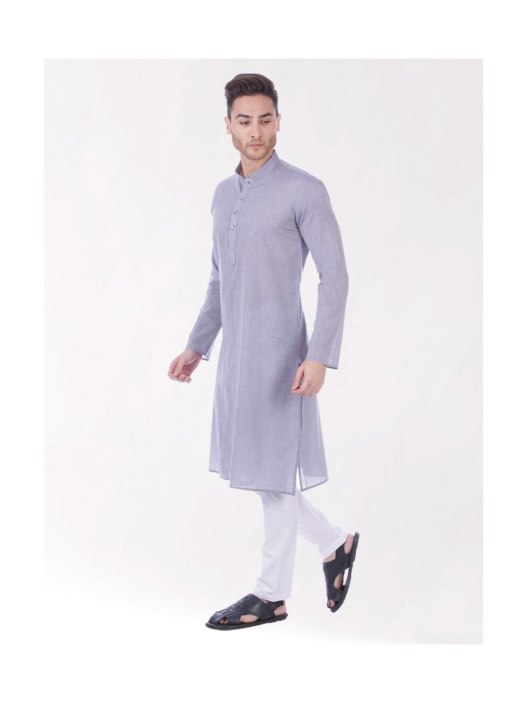 Light Blue Handloom Cotton Kurta