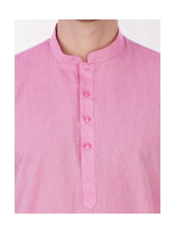Light Pink Handloom Cotton Kurta