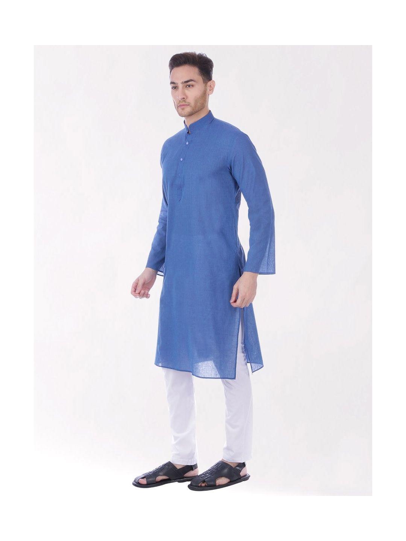 Blue Handloom Cotton Kurta