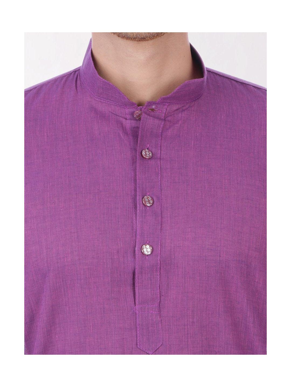 Purple Handloom Cotton Kurta