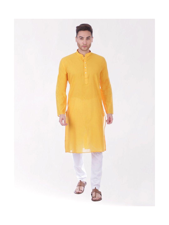 Yellow Handloom Cotton Kurta