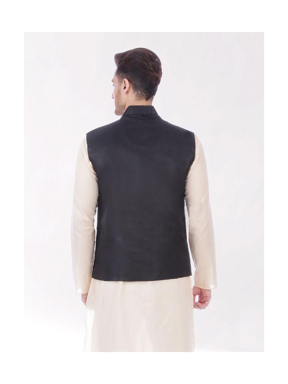Black Slim Fit Nehru Jacket