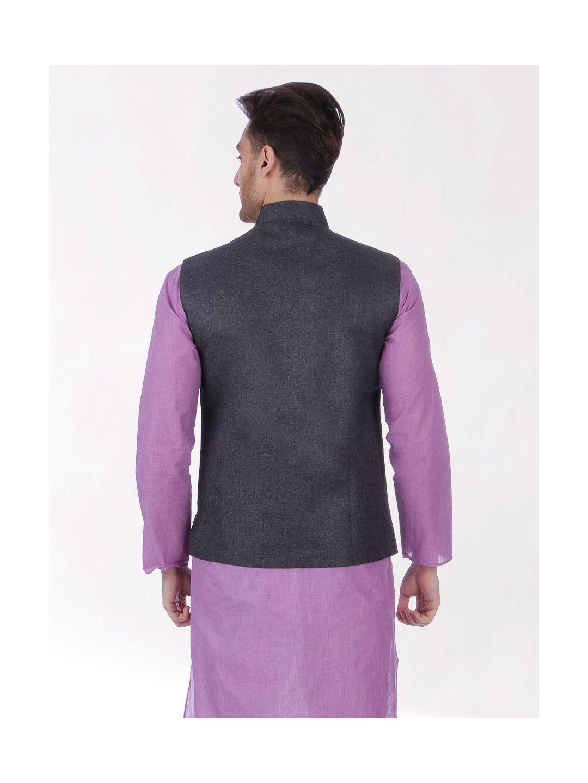 Grey Slim Fit Nehru Jacket
