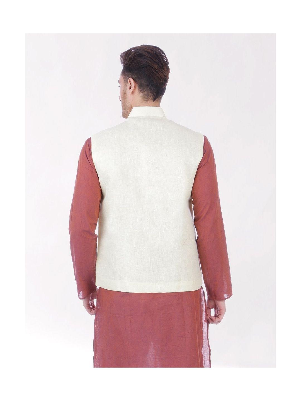 Lemon Cream Slim Fit Nehru Jacket