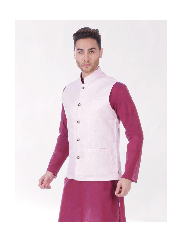 Pink Slim Fit Nehru Jacket