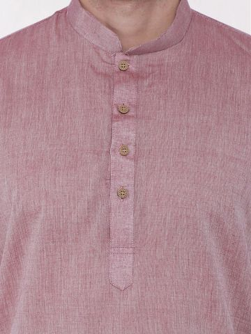 Maroon Brown Handloom Cotton Kurta