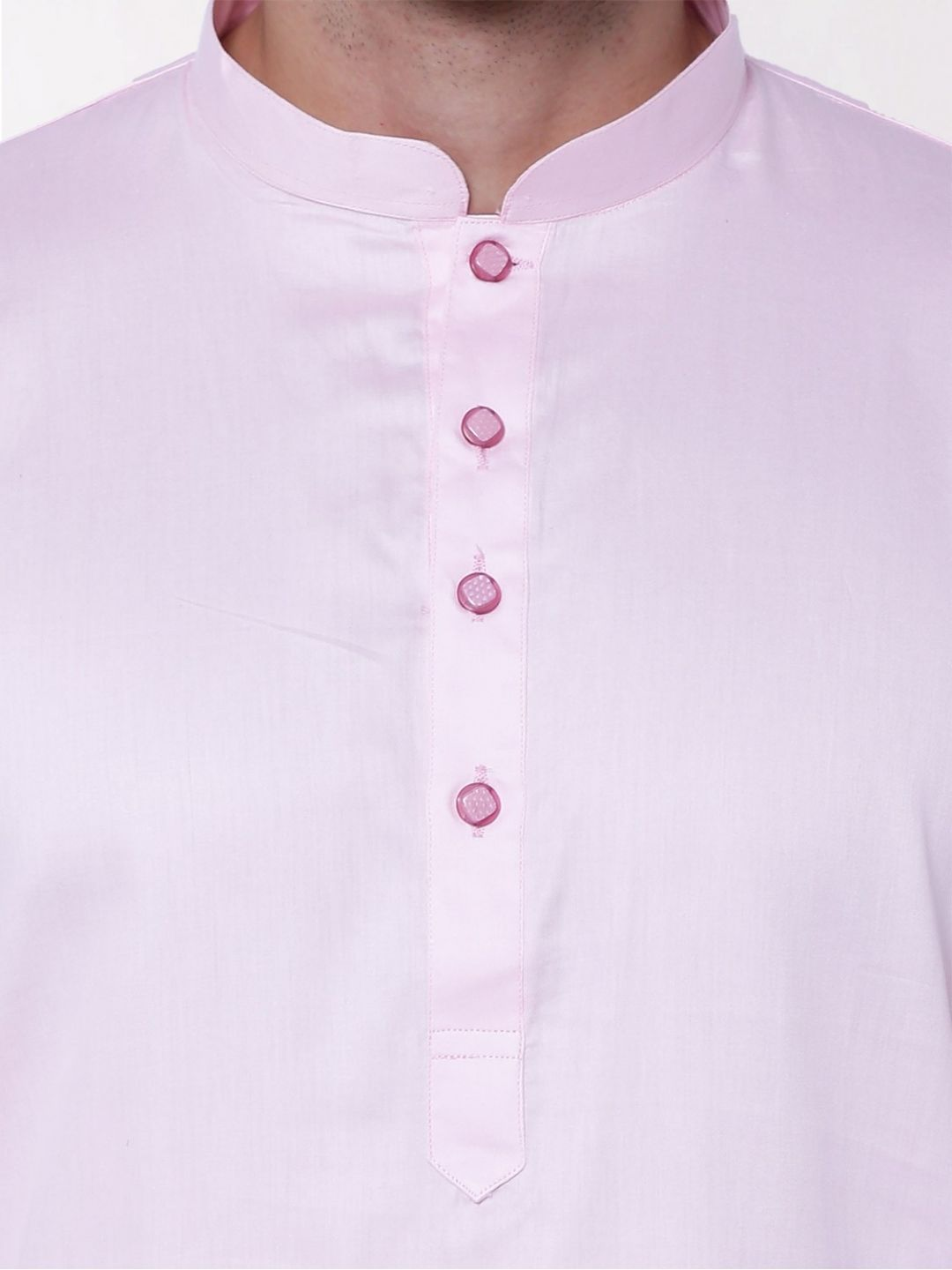 Pink Satin Cotton Kurta