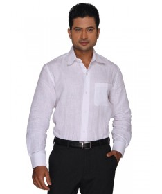 White Pure Linen Full Sleeves