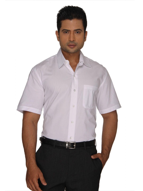 White SuperFine Cotton Half Sleeves