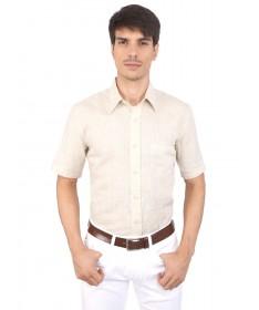 JAPs Beige Pure Linen Shirt Short Sleeve