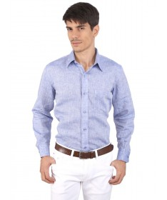 JAPs Blue Pure Linen Shirt
