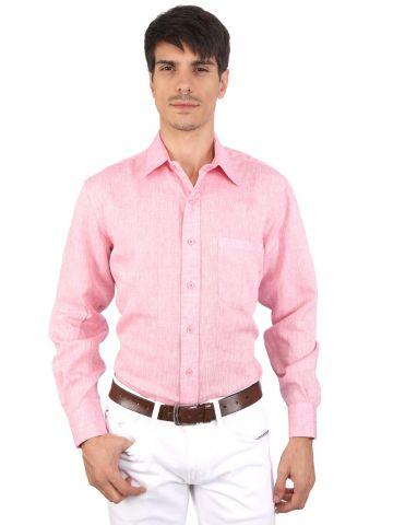 JAPs Pink Pure Linen Shirt