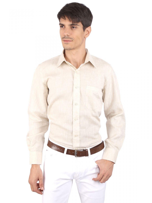 JAPs Beige Pure Linen Shirt