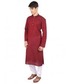 Red Cotton Long Kurta