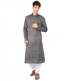 Grey Cotton Long Kurta
