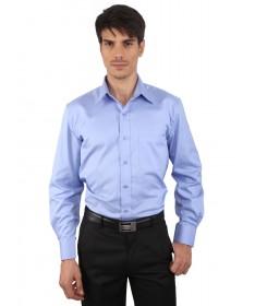 JAPs Blue Solids Cotton Formal Shirt