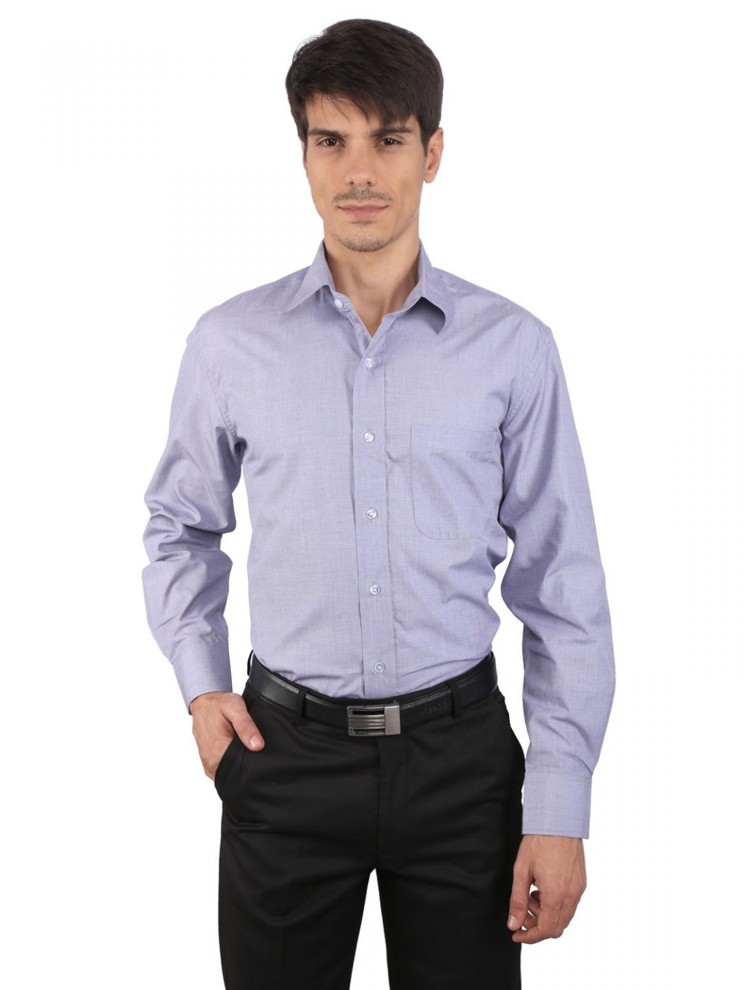 JAPs Men's Lavender Solids Formal Shirt