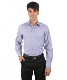 JAPs Lavender Solids Cotton Formal Shirt
